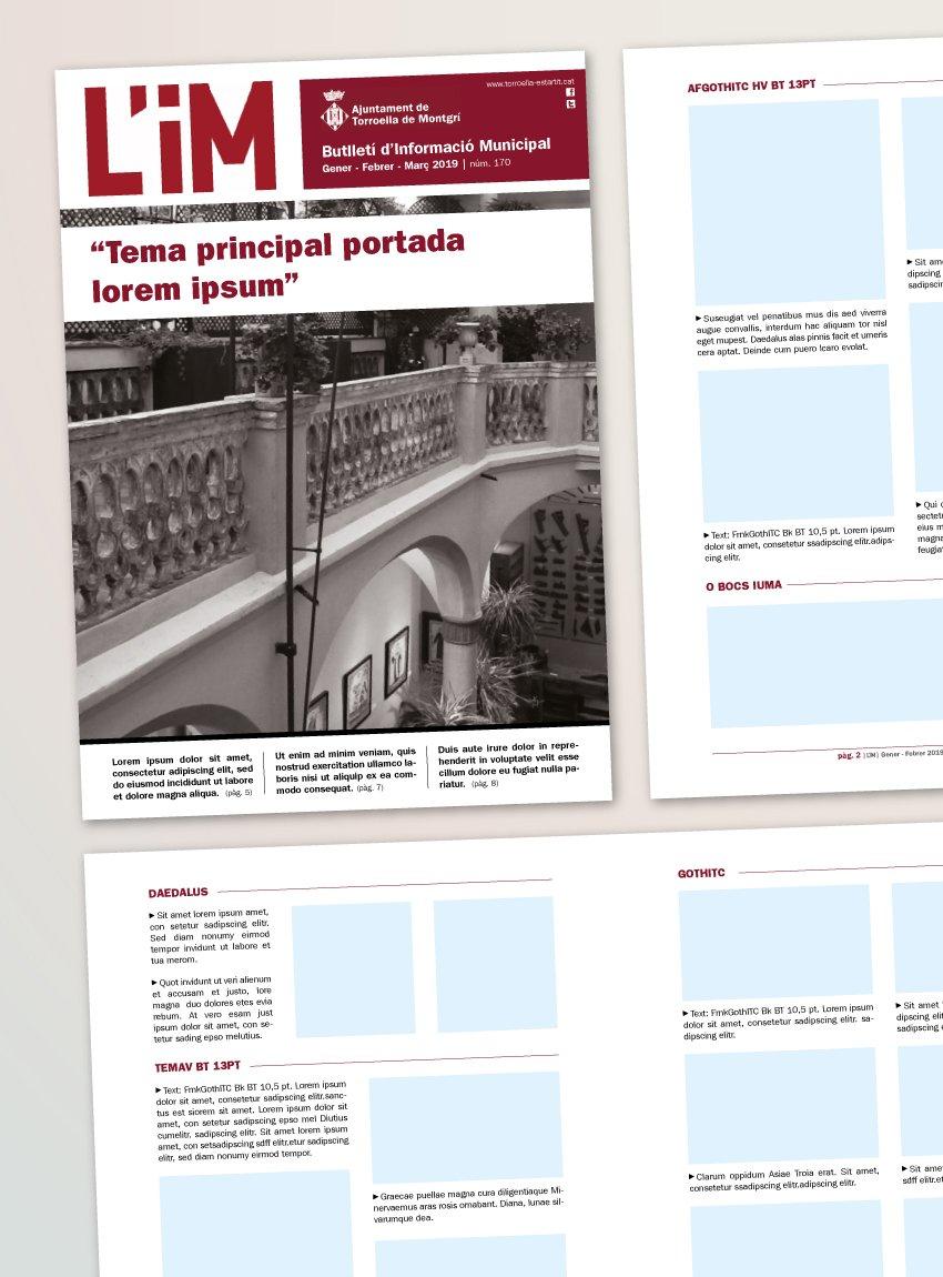 Disseny de butlletí informatiu per a Ajuntament